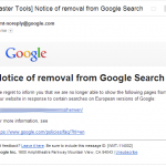 removal from Google Search
